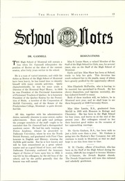 Page 15, 1929 Edition, Montreal High School - Magazine Yearbook (Montreal, Quebec Canada) online yearbook collection