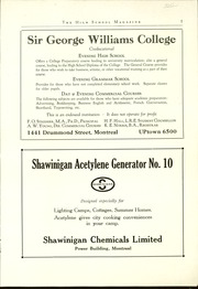 Page 3, 1929 Edition, Montreal High School - Magazine Yearbook (Montreal, Quebec Canada) online yearbook collection