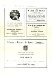 Page 6, 1929 Edition, Montreal High School - Magazine Yearbook (Montreal, Quebec Canada) online yearbook collection