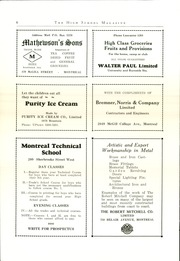 Page 8, 1929 Edition, Montreal High School - Magazine Yearbook (Montreal, Quebec Canada) online yearbook collection