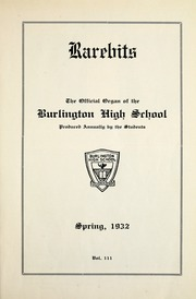 Page 15, 1932 Edition, Burlington High School - Rarebits Yearbook (Burlington, Ontario Canada) online yearbook collection