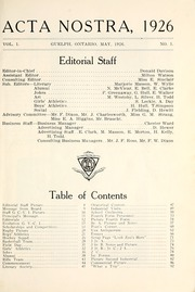 Page 13, 1926 Edition, Guelph Collegiate Vocational Institute - Acta Nostra Yearbook (Guelph, Ontario Canada) online yearbook collection