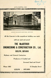 Page 7, 1926 Edition, Guelph Collegiate Vocational Institute - Acta Nostra Yearbook (Guelph, Ontario Canada) online yearbook collection