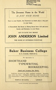 Page 6, 1931 Edition, Lindsay Collegiate and Vocational Institute - Tatler Yearbook (Lindsay, Ontario Canada) online yearbook collection