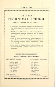 Page 13, 1930 Edition, Lisgar Collegiate Institute - Vox Lycei Yearbook (Ottawa, Ontario Canada) online yearbook collection