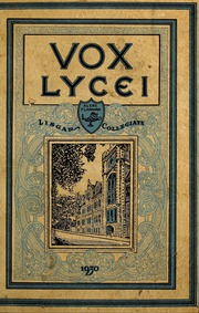 Page 5, 1930 Edition, Lisgar Collegiate Institute - Vox Lycei Yearbook (Ottawa, Ontario Canada) online yearbook collection