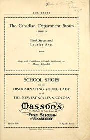 Page 7, 1930 Edition, Lisgar Collegiate Institute - Vox Lycei Yearbook (Ottawa, Ontario Canada) online yearbook collection