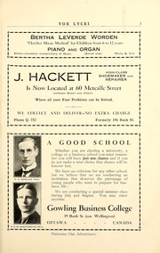 Page 9, 1930 Edition, Lisgar Collegiate Institute - Vox Lycei Yearbook (Ottawa, Ontario Canada) online yearbook collection