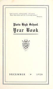 Page 7, 1928 Edition, Paris District High School - Yearbook (Paris, Ontario Canada) online yearbook collection