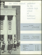 Page 7, 1954 Edition, Catholic High School of Baltimore - Troubadour Yearbook (Baltimore, MD) online yearbook collection
