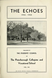 Page 17, 1935 Edition, Peterborough Collegiate and Vocational School - Echoes Yearbook (Peterborough, Ontario Canada) online yearbook collection