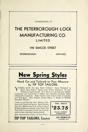 Page 9, 1935 Edition, Peterborough Collegiate and Vocational School - Echoes Yearbook (Peterborough, Ontario Canada) online yearbook collection