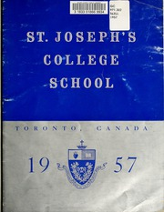 Page 5, 1957 Edition, St Josephs College School - Congreavit Nos Yearbook (Toronto, Ontario Canada) online yearbook collection