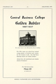 Page 12, 1937 Edition, Stratford Central Secondary School - Collegian Yearbook (Stratford, Ontario Canada) online yearbook collection