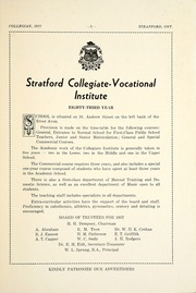 Page 7, 1937 Edition, Stratford Central Secondary School - Collegian Yearbook (Stratford, Ontario Canada) online yearbook collection