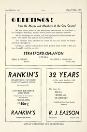 Page 8, 1937 Edition, Stratford Central Secondary School - Collegian Yearbook (Stratford, Ontario Canada) online yearbook collection