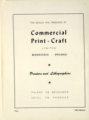 Page 10, 1950 Edition, Woodstock Collegiate Institute - Oracle Yearbook (Woodstock, Ontario Canada) online yearbook collection