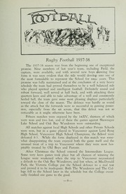 Page 15, 1938 Edition, St Michaels University School - Black Red and Blue Yearbook (Victoria, British Columbia Canada) online yearbook collection
