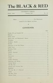 Page 9, 1939 Edition, St Michaels University School - Black Red and Blue Yearbook (Victoria, British Columbia Canada) online yearbook collection