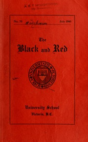 Page 1, 1940 Edition, St Michaels University School - Black Red and Blue Yearbook (Victoria, British Columbia Canada) online yearbook collection
