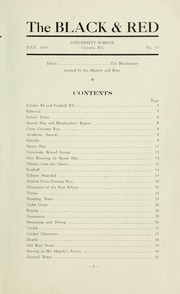 Page 5, 1940 Edition, St Michaels University School - Black Red and Blue Yearbook (Victoria, British Columbia Canada) online yearbook collection