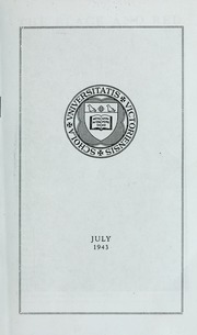 Page 1, 1943 Edition, St Michaels University School - Black Red and Blue Yearbook (Victoria, British Columbia Canada) online yearbook collection
