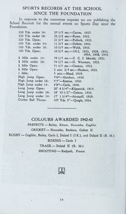 Page 14, 1943 Edition, St Michaels University School - Black Red and Blue Yearbook (Victoria, British Columbia Canada) online yearbook collection