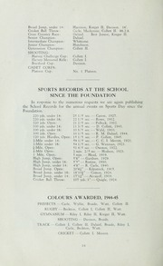 Page 16, 1945 Edition, St Michaels University School - Black Red and Blue Yearbook (Victoria, British Columbia Canada) online yearbook collection