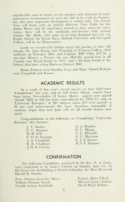 Page 13, 1952 Edition, St Michaels University School - Black Red and Blue Yearbook (Victoria, British Columbia Canada) online yearbook collection