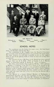 Page 10, 1956 Edition, St Michaels University School - Black Red and Blue Yearbook (Victoria, British Columbia Canada) online yearbook collection
