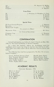 Page 14, 1956 Edition, St Michaels University School - Black Red and Blue Yearbook (Victoria, British Columbia Canada) online yearbook collection