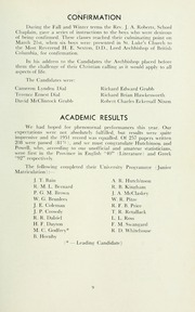Page 13, 1957 Edition, St Michaels University School - Black Red and Blue Yearbook (Victoria, British Columbia Canada) online yearbook collection