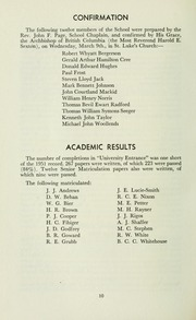 Page 14, 1960 Edition, St Michaels University School - Black Red and Blue Yearbook (Victoria, British Columbia Canada) online yearbook collection