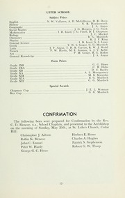Page 17, 1962 Edition, St Michaels University School - Black Red and Blue Yearbook (Victoria, British Columbia Canada) online yearbook collection