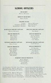 Page 11, 1974 Edition, St Michaels University School - Black Red and Blue Yearbook (Victoria, British Columbia Canada) online yearbook collection