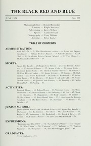 Page 5, 1974 Edition, St Michaels University School - Black Red and Blue Yearbook (Victoria, British Columbia Canada) online yearbook collection