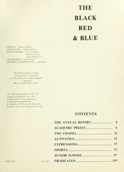 Page 3, 1977 Edition, St Michaels University School - Black Red and Blue Yearbook (Victoria, British Columbia Canada) online yearbook collection