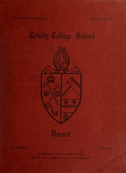 Page 1, 1928 Edition, Trinity College School - Record Yearbook (Port Hope, Ontario Canada) online yearbook collection