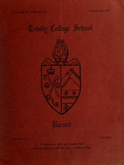 Page 1, 1929 Edition, Trinity College School - Record Yearbook (Port Hope, Ontario Canada) online yearbook collection
