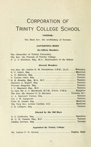 Page 10, 1937 Edition, Trinity College School - Record Yearbook (Port Hope, Ontario Canada) online yearbook collection