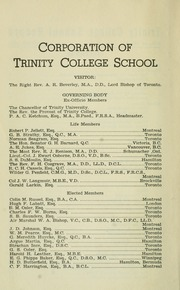 Page 6, 1953 Edition, Trinity College School - Record Yearbook (Port Hope, Ontario Canada) online yearbook collection