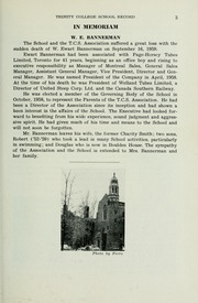 Page 17, 1960 Edition, Trinity College School - Record Yearbook (Port Hope, Ontario Canada) online yearbook collection