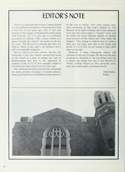 Page 14, 1986 Edition, Trinity College School - Record Yearbook (Port Hope, Ontario Canada) online yearbook collection