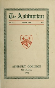 Ashbury College - Ashburian Yearbook (Ottawa, Ontario Canada) online yearbook collection, 1932 Edition, Page 1