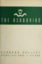Page 1, 1945 Edition, Ashbury College - Ashburian Yearbook (Ottawa, Ontario Canada) online yearbook collection