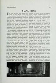 Page 15, 1945 Edition, Ashbury College - Ashburian Yearbook (Ottawa, Ontario Canada) online yearbook collection