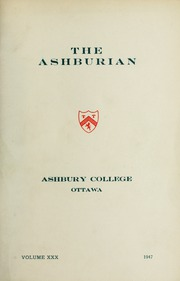 Page 1, 1947 Edition, Ashbury College - Ashburian Yearbook (Ottawa, Ontario Canada) online yearbook collection