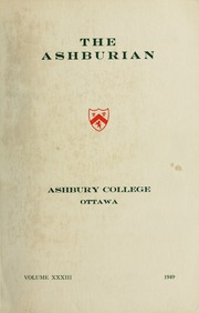 Page 1, 1949 Edition, Ashbury College - Ashburian Yearbook (Ottawa, Ontario Canada) online yearbook collection