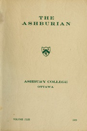 Ashbury College - Ashburian Yearbook (Ottawa, Ontario Canada) online yearbook collection, 1959 Edition, Page 1