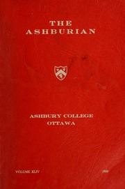 Page 1, 1960 Edition, Ashbury College - Ashburian Yearbook (Ottawa, Ontario Canada) online yearbook collection